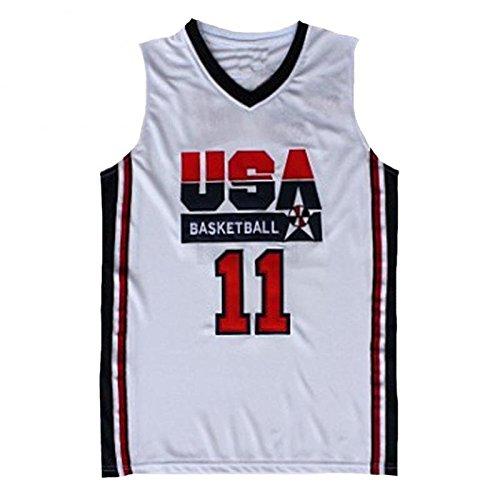 No.11 Malone Jersey Basketball Jersey Sports Embroidery Men's Jersey S-XXL