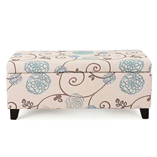 Christopher Knight Home Living Brenway Pattern Fabric Storage Ottoman, 19.00