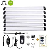 B-right 4000K Daylight Dimmable LED Under Cabinet Lighting, UL Listed Power Adapter, Milk Cover, 6 Panel Kits, 1800lm, Total of 24W