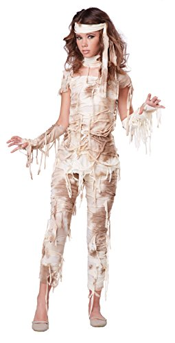Zombie Teen Costume (California Costumes Mysterious Mummy Tween Costume,)