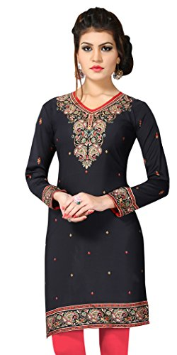 Indian Tunic Top Womens Kurti Printed Blouse India Clothing – Small, L 140