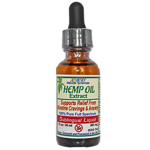 Hemp Oil - Supports Relief from Nicotine Cravings