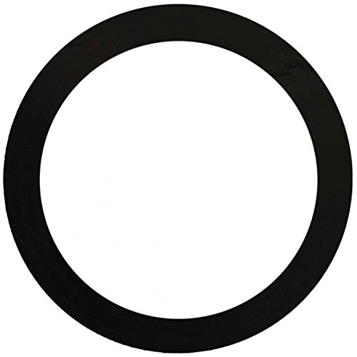 2 Pcs, Floor Box Decorative Trim Goof Ring, Matte Black Painted Steel, 5/8 In. Flange, 5-1/4 In I.D., 6-1/2 In O.D., Matte Black-Painted Galvanized Steel