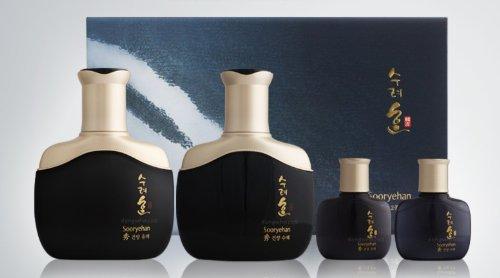 KOREAN-COSMETICS-LG-Household-Health-Care-SooRyeHan-Soo-Konyang-basic-2-piece-set-Konyang-emulsion-140ml-Konyang-sap-Skin-140ml-male-cosmetics-highly-enriched-Homme-herbal-skin-aging-moisturizing001KR
