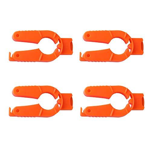 - LINGJUN 4Pcs Multifunctional Bottle Can Opener Non-slip Bottle Gripper Orange