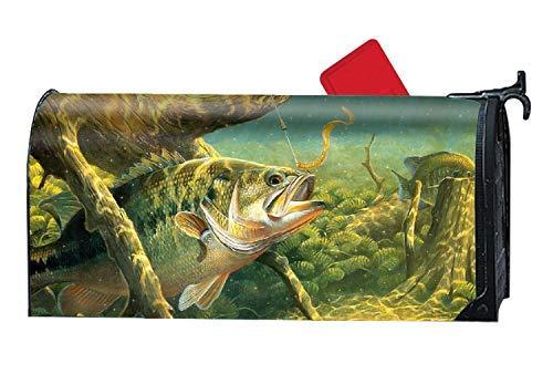 MALBO Fishing Fish Custom Mailbox Covers Magnetic Mailbox Wrap 9