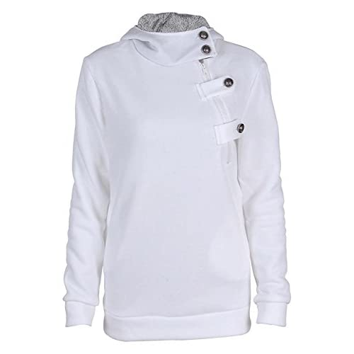 Top Ayliss Womens Funnel Neck Long Sleeve Pullover Hoodie Jumper Sweatshirts for sale