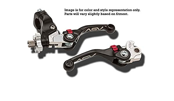 YAMAHA BANSHEE YFZ 350 F4 ASV CLUTCH AND BRAKE LEVERS RED PAIR PACK