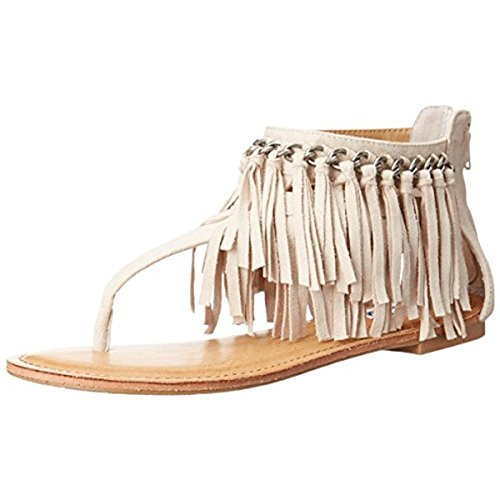 Not Rated Keep The Peace Women's Faux Suede Sandals Ivory Size 11