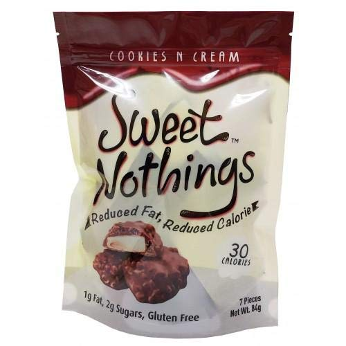 (ChocoRite - High Protein Diet Bar | Sweet Nothings Cookies and Cream Clusters | Low Calorie, Low Fat, Sugar Free, (7/Bag))