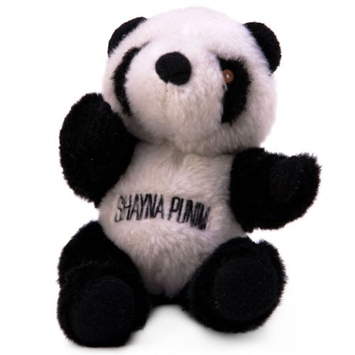 Copa Judaica Chewish Treat Shayna Punin Panda Plush Dog Toy with Squeaker, 6 by 7-Inch, Black and - Dog Toy Panda