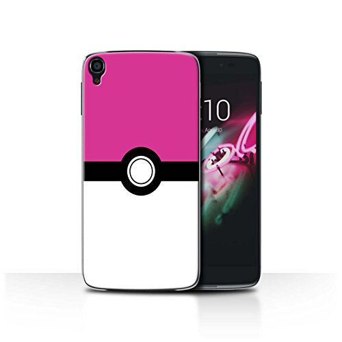 STUFF4 Phone Case / Cover for Alcatel Idol OneTouch 3 5.5 / Pink Design / Pokeball Anime Inspired Collection