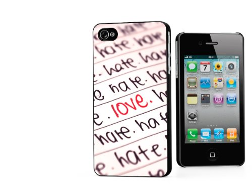 Master Case - Coque iPhone 4/4S Saint Valentin 2014 - Hate but Love