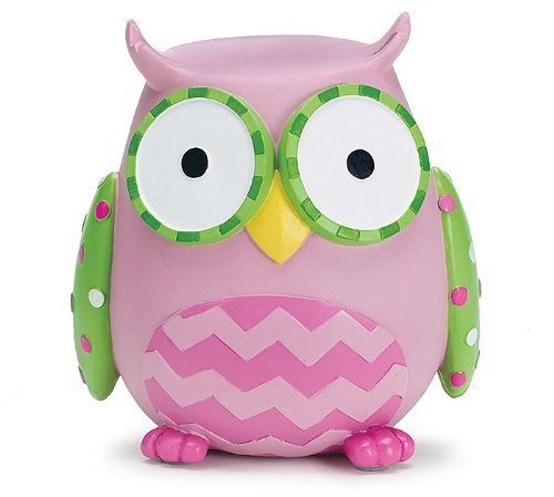 (Burton & Burton Owl Money Savings Piggy Bank Pink )