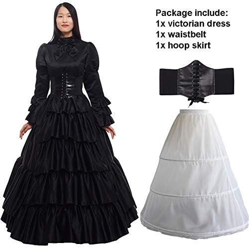 Amazon.com: GRACEART Women Victorian Rococo Dress Renaissance Costumes ( Dress & Hoop Skirt): Clothing