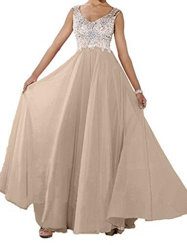 Kleider Brautmutterkleider Abendkleider Rosa Charmant Champagner Langes Jugendweihe Partykleider Perlen Damen Neu wXOq78