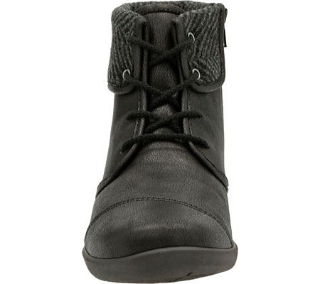 Clarks Women's Sillian Frey Black Synthetic Nubuck Boot 9 A - Narrow jUsy8M5