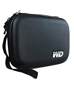 "Shaurya Hard Disk Drive Pouch case for 2.5"" HDD Cover WD Seagate Slim Sony Dell Toshiba (Black)"