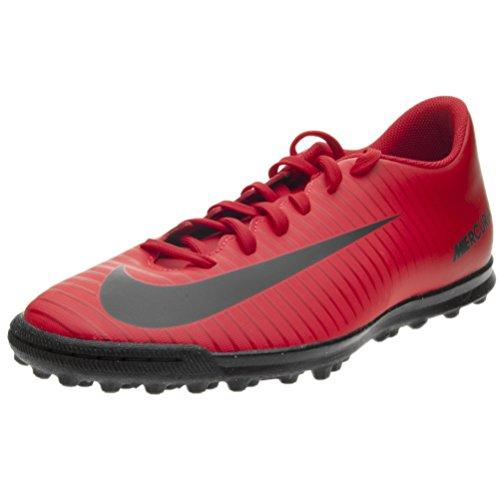 Nike - Botas de fútbol de Piel para hombre Rojo negro / rojo