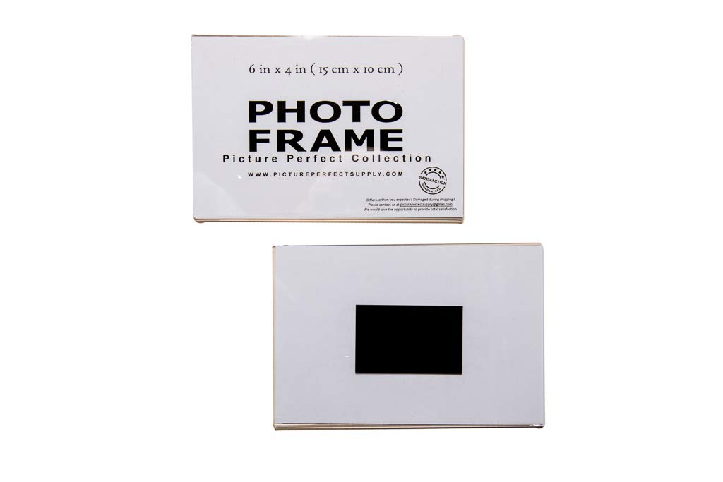 6x4 Clear Acrylic Picture Frame Magnet Magnetic Acrylic Photo Frame Refridgerator (50)