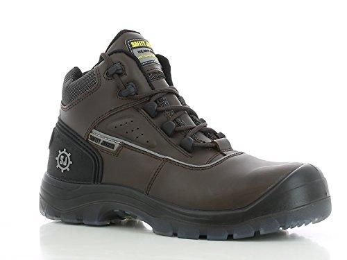 SAFETY JOGGER MARS Men Safety Toe Lightweight EH PR Water Resistant Mid Cut Boot, M 8.5, Dark Brown/Black