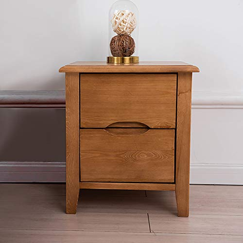 Wooden Concept ZJ- Wooden Side 2 Drawers, Accent Table Antique