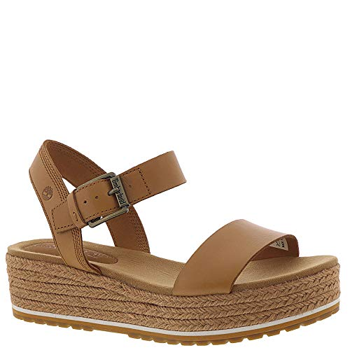 Timberland Brown Sandals - Timberland Women's Santorini Sun Ankle Strap Sandal Medium Brown Full Grain 9 B US