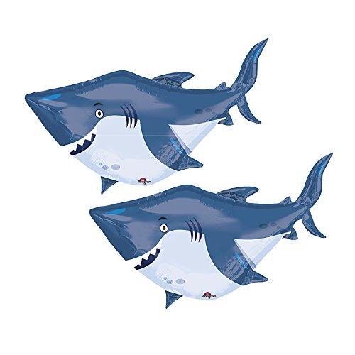 Set of 2 Jumbo Smiling Shark 40