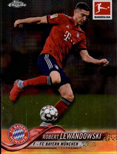 2018-19 Topps Chrome Bundesliga #1 Robert Lewandowski FC Bayern Munchen Soccer Trading Card