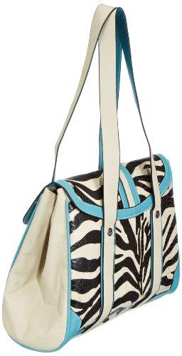 Compra Bolsa Material La Zebra zebra Mujer De Exotic Petrol Remix Sintético Tree Poodlebags Mehrfarbig Multicolor Funkyline Petrol Lipstick F0Ppxvn