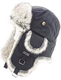 Taslon Faux Fur Aviator Ski Trapper Trooper Pilot Hat