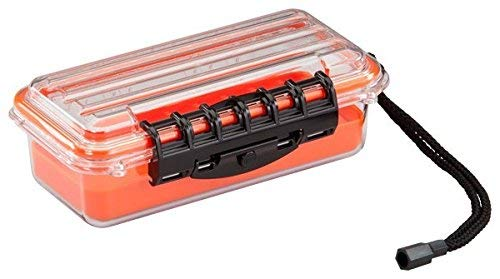 Plano Small Guide Series Waterproof Case, Orange/Clear 145000