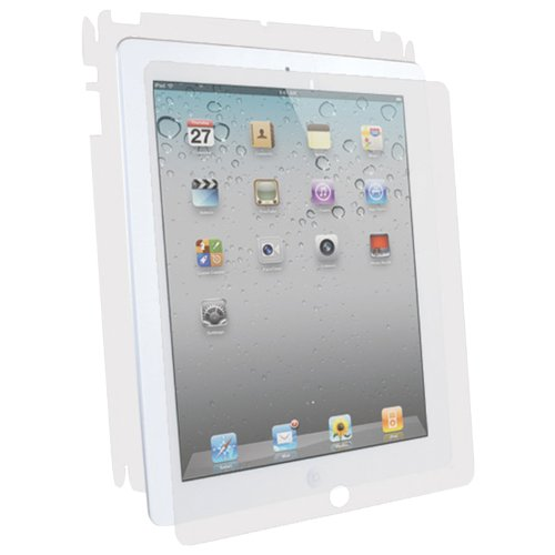 BodyGuardz UltraTough Clear Skin Full Body Protection with Anti-Microbial for the Apple NEW iPad 3 (3rd Generation) and iPad 2 - Gel Apply (BZ-UAI3-0312) ()