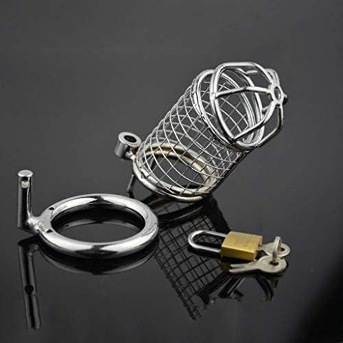 Pllxq オナニーメタルステンレス鋼の男性貞操帯合金メッシュ貞操ロック絶妙な、美しいの防止 (Size : 45mm)