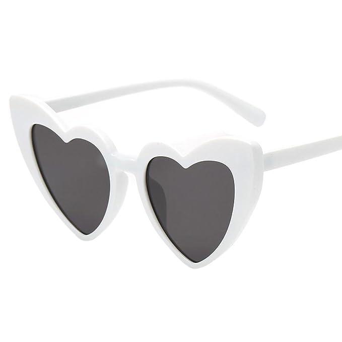 VJGOAL Mujer Moda retro Gafas de sol con forma de corazón ...