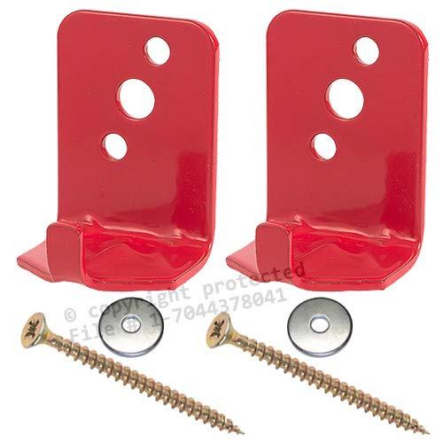 (Lot of 2) Fire Extinguisher Bracket, Wall Hook, Mount, Hanger, Universal for 5 Lb. Extinguishers NO Screws or WASHERS BigDavesYardSale WH-5