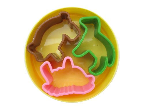 plastic animal cookie cutter set - 8