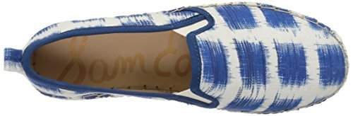 Sam Edelman Dames Carrin Platform Espadrille Slip-on Sneaker Blauwe / Multi Gingham Print