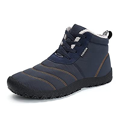 de1db082ef Mens Womens Snow Boots Winter Waterproof Shoes Lace Up Anti-Slip Ankle  Bootie Outdoor Shoes