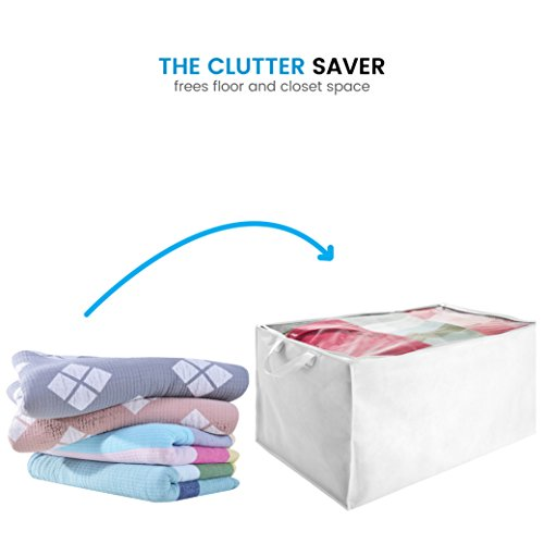 Zober Jumbo Blanket Storage Bags With Zipper Comforter
