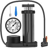 Bike Pump, [160 PSI High Pressure] [Large Gauge Display] Diyife Labor Saving Portable Bike Foot Pump Bicycle P