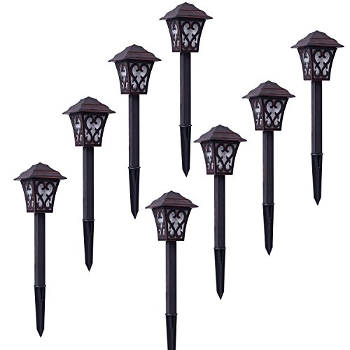 Malibu LED Low Voltage 1W Metal Construction Landscape Lighting, Energy Efficient and Warm White Light for Driveway, Yard, Lawn, Pathway, Garden 8 PK 8405-9112-08