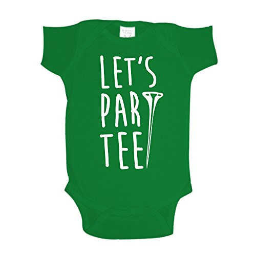 The Shirt Den Let's Par Tee Golf Baby One Piece NB Kelly Green