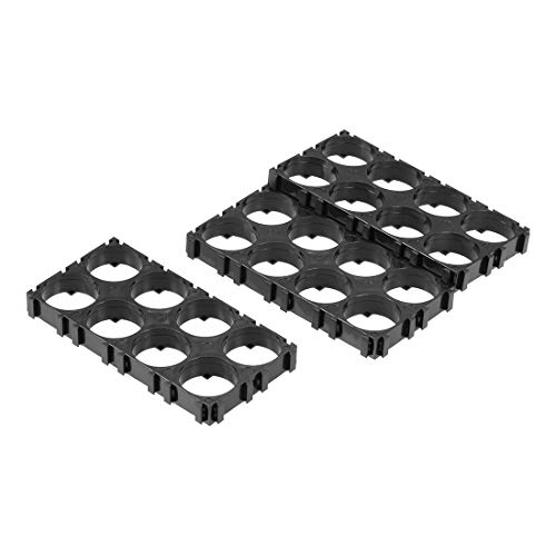 uxcell 10pcs 2x4 Cell Spacer 18650 Lithium Battery Plastic Holder Bracket for DIY Battery Pack