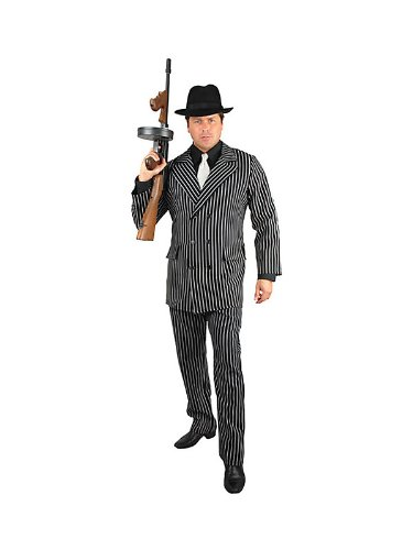 Mobster Suit Costume (Gangster Man Suit Plus Size Costume)