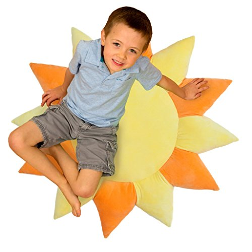 Floor Bloom Soft and Cozy Sun Floor Pillow for Kids (Extr...