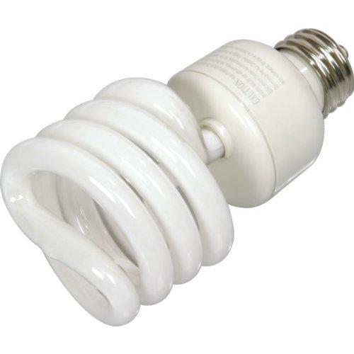 Integrated Compact Fluorescent Bulb Value Light 27W 3500K Twist 12pk