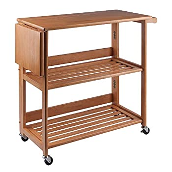 Image of Home and Kitchen Winsome Radley Kitchen Cart, Light Oak
