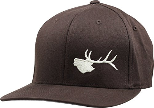 Elk Brown (Lindo Flexfit Pro Style Hat - Bugling Elk (Brown-sm))