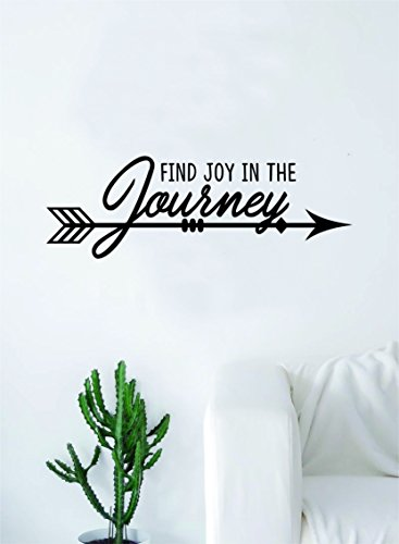 Find Joy in the Journey Arrow Quote Decal Sticker Wall Vinyl Art Wall Room Decor Inspirational Travel Adventure Explore Wanderlust by Boop Decals